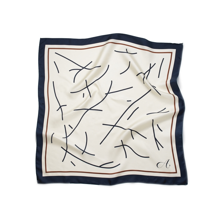 Drawing Square Silk Scarf [2.10 예약배송]